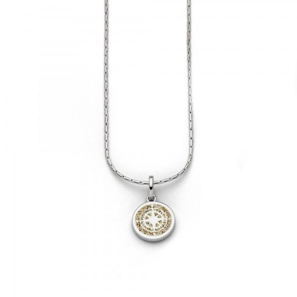 Silberkette Kompass