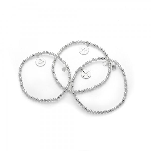Silberarmband Kugel