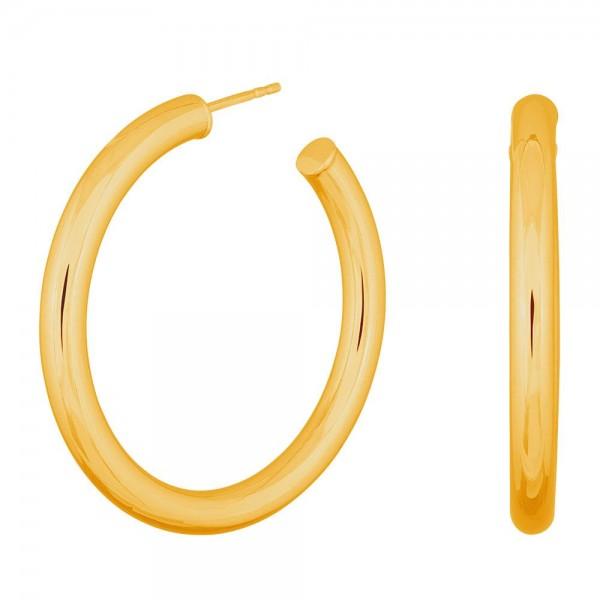 Silbercreolen vergoldet Simple52 4mm