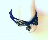 Lapis Lazuli Armband mit Silberelementen