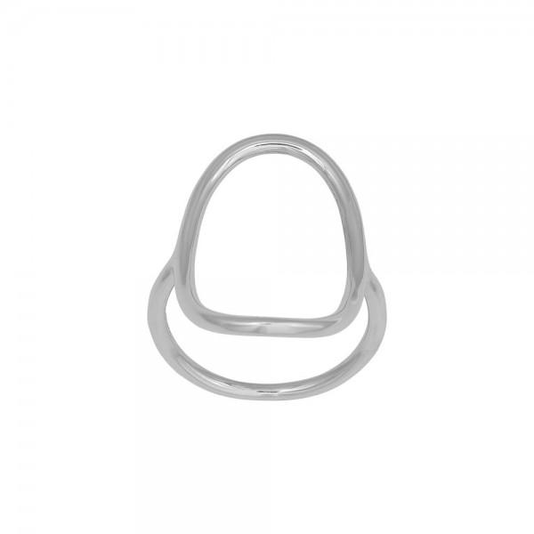Rhodinierter Silber Ring SOFT52 27mm