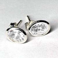 Bergkristallohrstecker oval 6*8mm