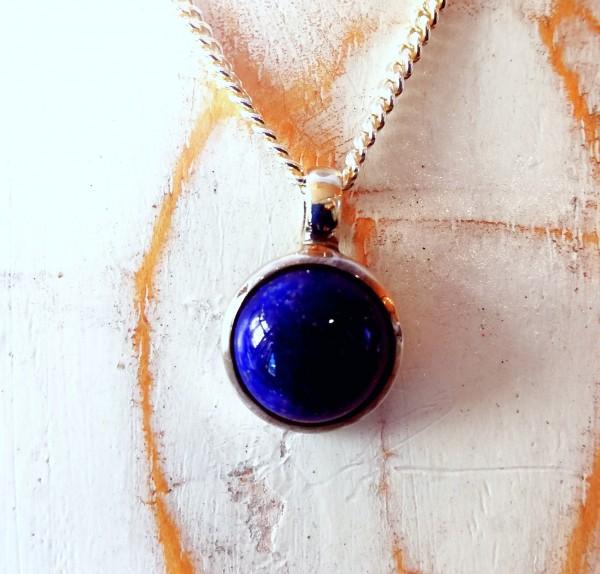 Lapis Lazuli Anhänger rund