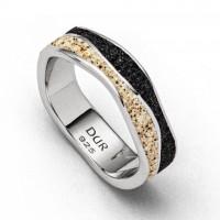 Ring Welle Sand /Lavasand