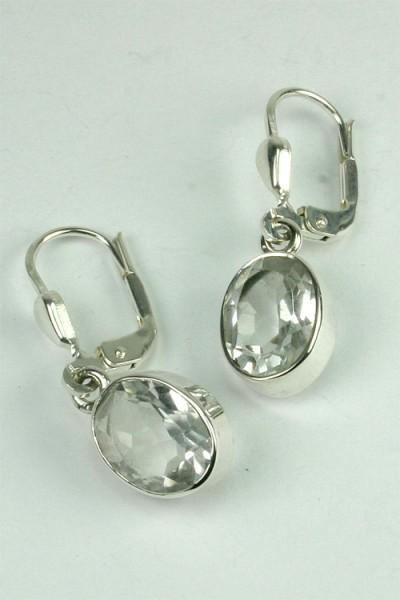 Ohrhänger Bergkristall 7*9mm oval